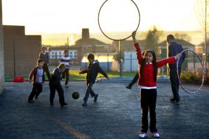 Youngsters at youth club have fun testing out facilities at new community centre